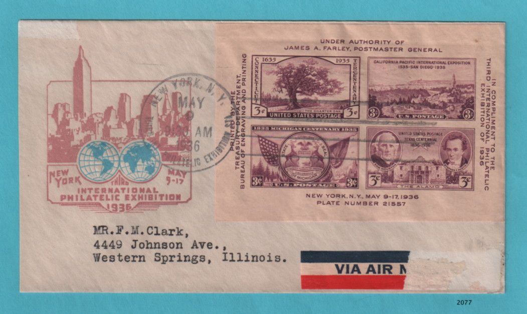 first day cover for 3 cent